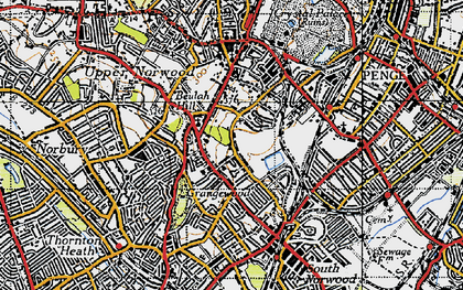 Old map of Upper Norwood in 1946