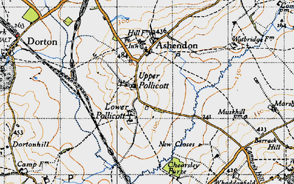 Old map of Upper Pollicott in 1946