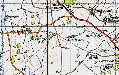 Old map of Westcote Hill in 1946