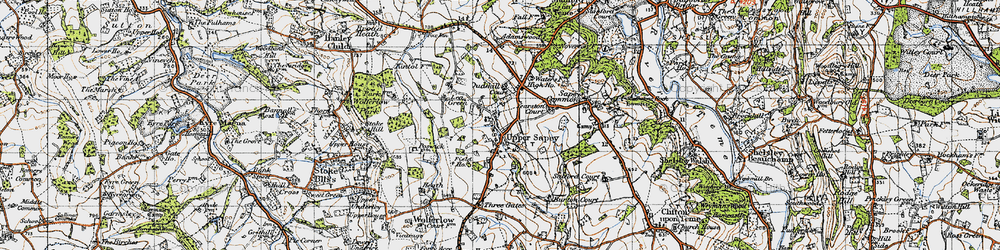 Old map of Yearston Court in 1947