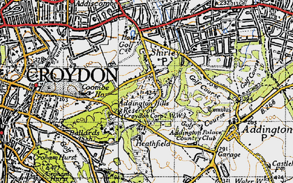 Old map of Addington Hills in 1946