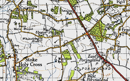 Old map of Whiteford Hall in 1946