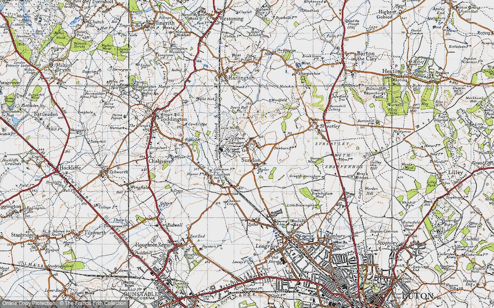 Old Map of Upper Sundon, 1946 in 1946