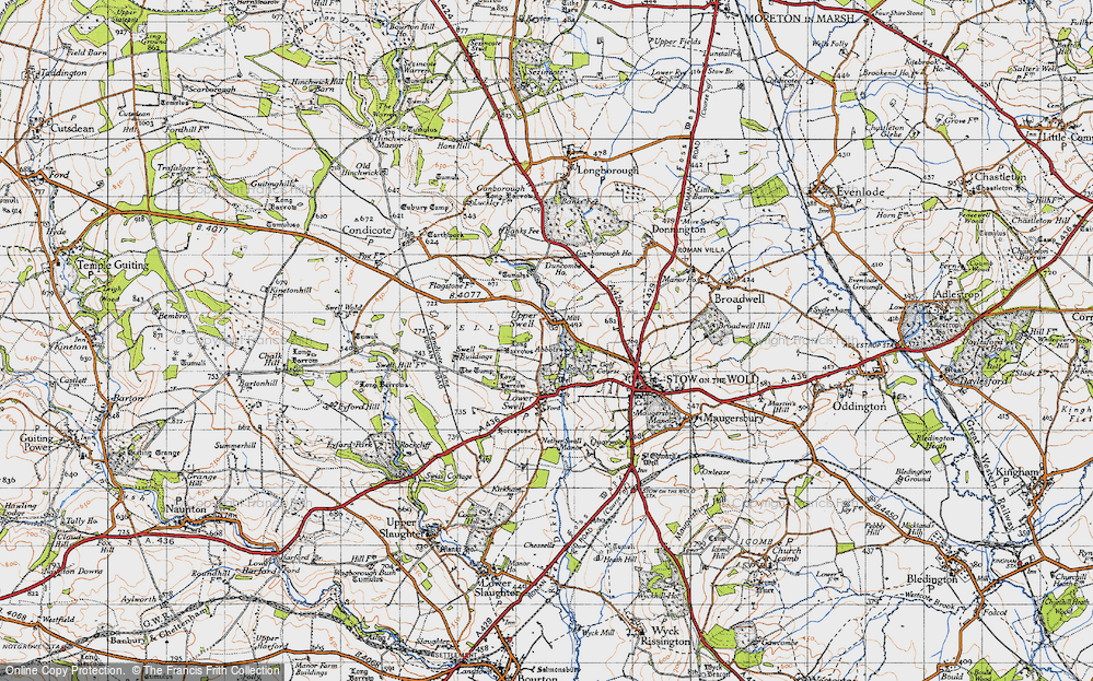 Old Map of Historic Map covering Abbotswood in 1946