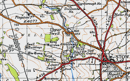 Old map of Abbotswood in 1946