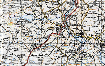 Old map of Yeoman Hill in 1947
