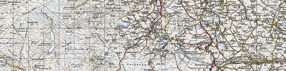 Old map of Thurrish Rough in 1947