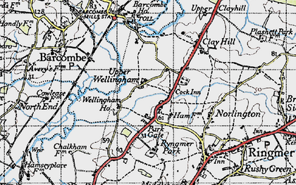 Old map of Barcombe Ho in 1940