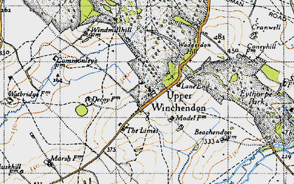 Old map of Upper Winchendon in 1946