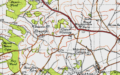Old map of Whitedown in 1945