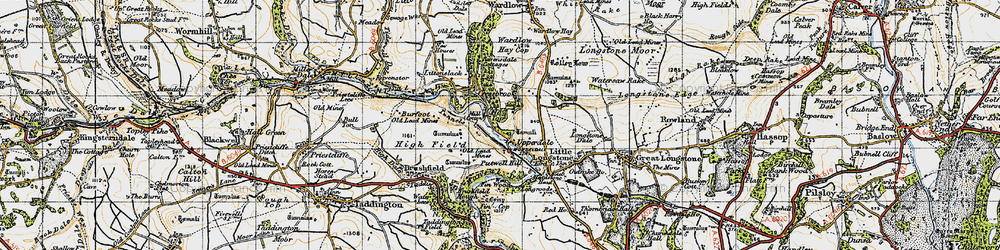 Old map of Monsal Dale in 1947
