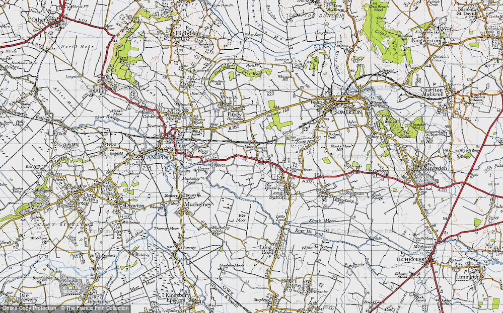 Old Map of Upton, 1945 in 1945
