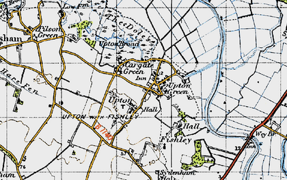 Old map of Wisemans' Oby Mill in 1945