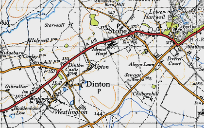 Old map of Upton in 1946