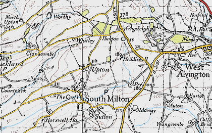 Old map of Worthy in 1946