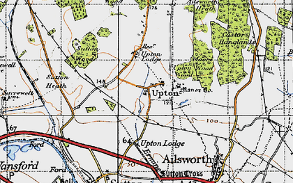 Old map of Ailsworth Heath in 1946
