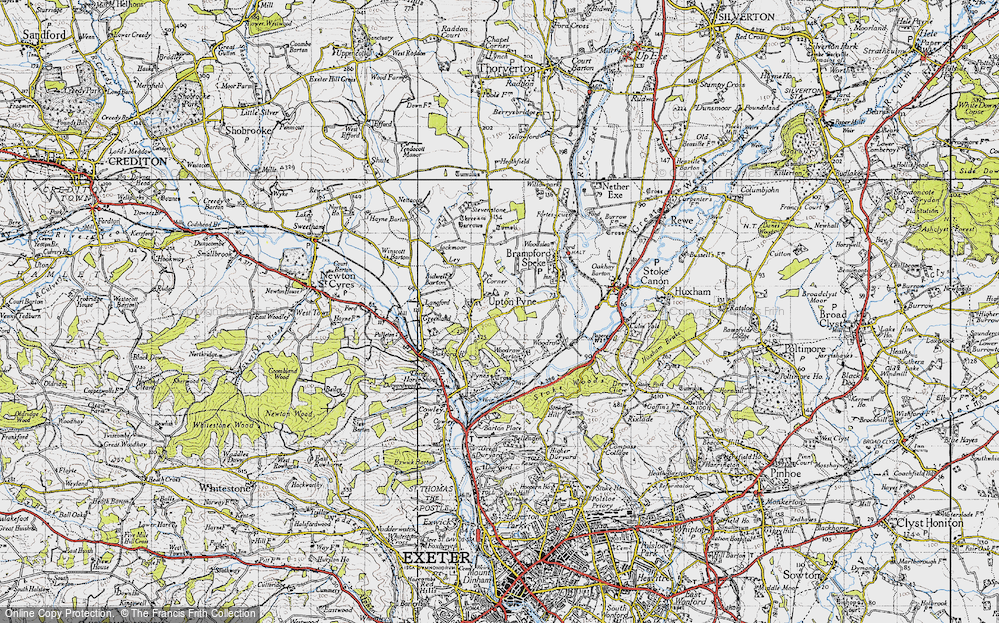 Old Map of Historic Map covering Woodrow in 1946