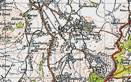 Old map of Whitley Court in 1947