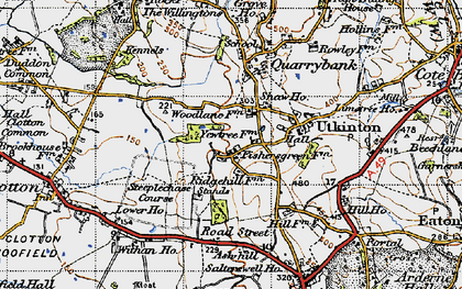 Old map of Ash Hill Ho in 1947