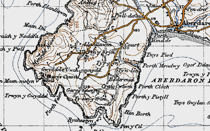Old map of Tir Glyn in 1947