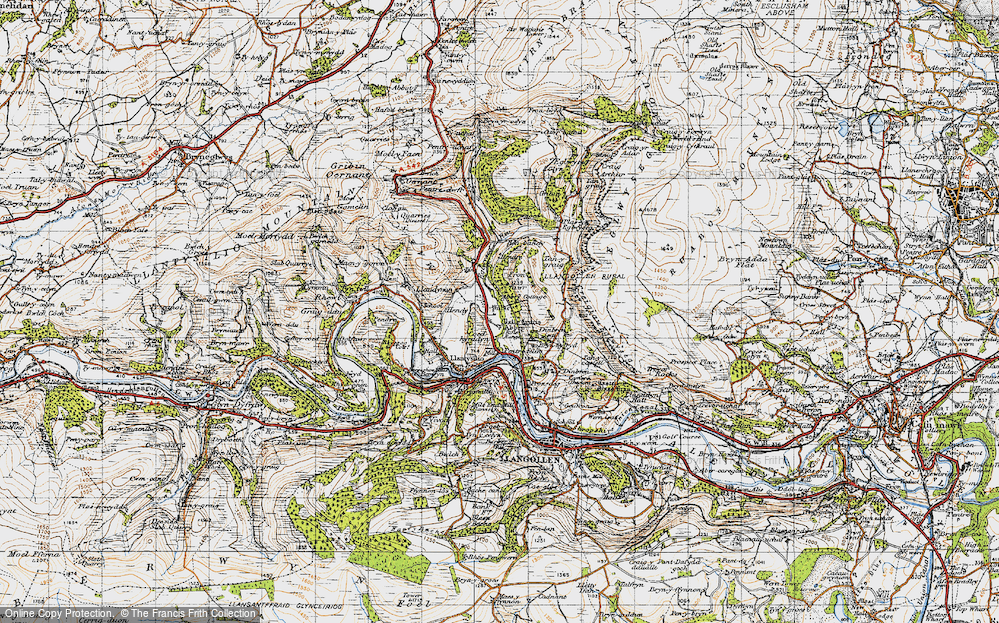 Old Map of Historic Map covering Abbey Cottage in 1947
