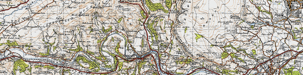 Old map of Abbey Cottage in 1947