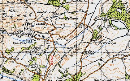 Old map of Y Fan in 1947