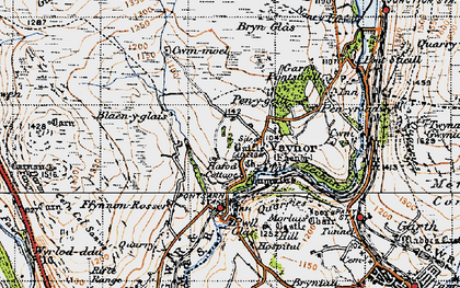 Old map of Vaynor in 1947