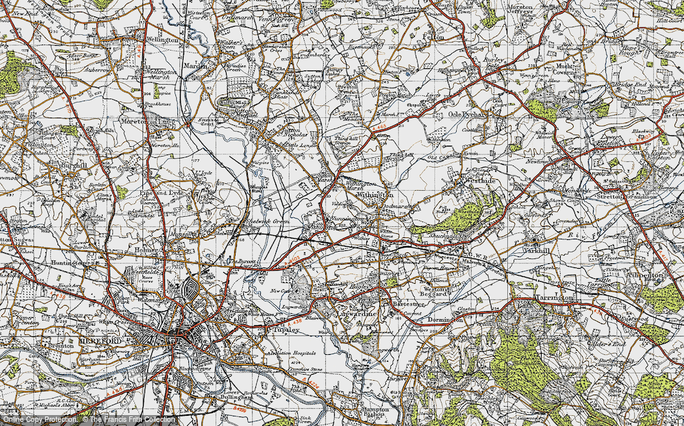 Old Map of Historic Map covering Nunnington in 1947