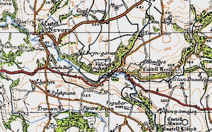 Old map of Ysguborwen in 1947