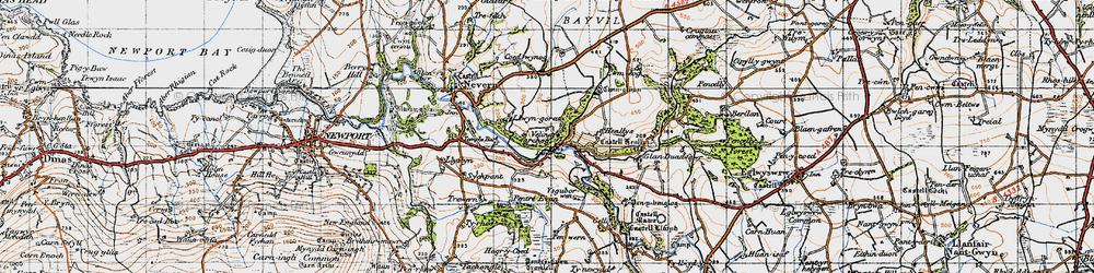 Old map of Velindre in 1947
