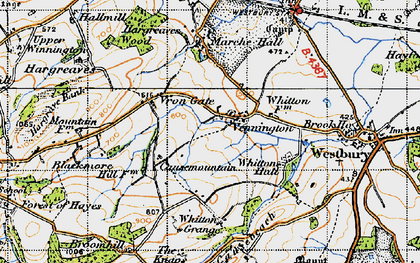 Old map of Whitton Grange in 1947