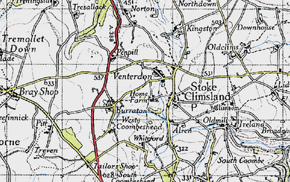 Old map of Venterdon in 1946