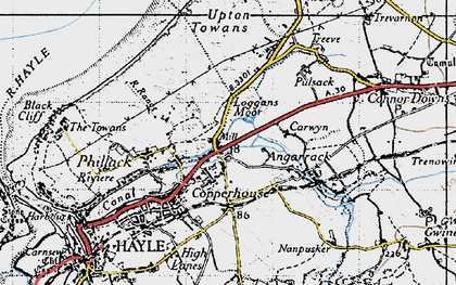 Old map of Ventonleague in 1946