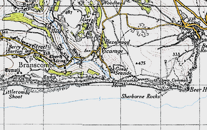 Old map of Woodhead in 1946