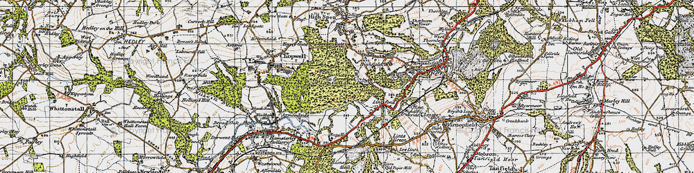 Old map of Victoria Garesfield in 1947