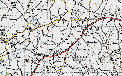 Old map of Viscar in 1946