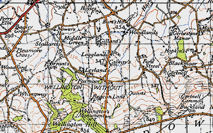 Old map of Legglands in 1946
