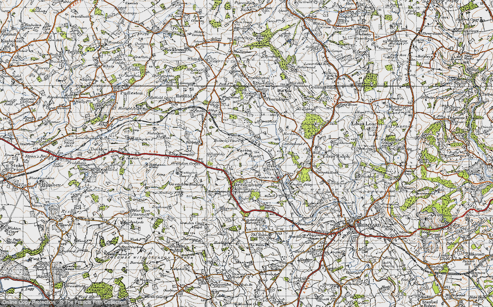 Old Map of Historic Map covering Wiggall in 1947