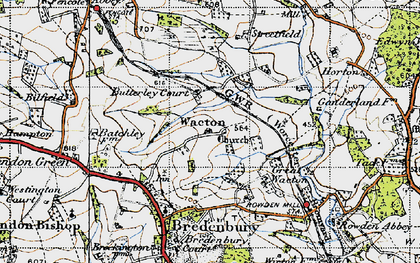 Old map of Wiggall in 1947