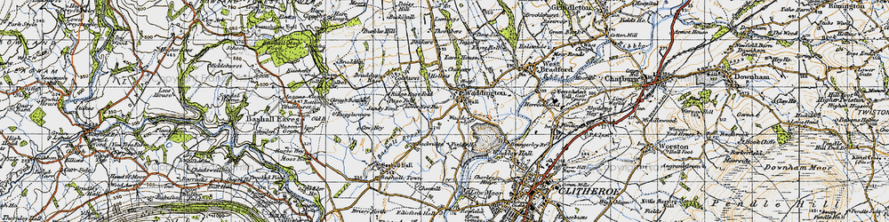 Old map of Waddington in 1947