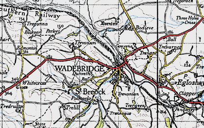 Old map of Wadebridge in 1946