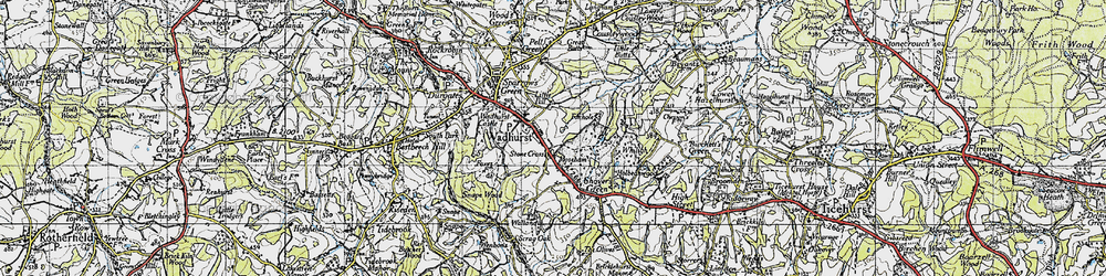 Old map of Wadhurst in 1940