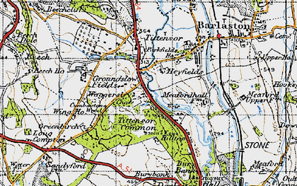 Old map of Tittensor Chase in 1946