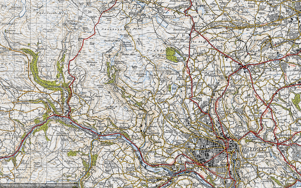 Old Map of Wainstalls, 1947 in 1947