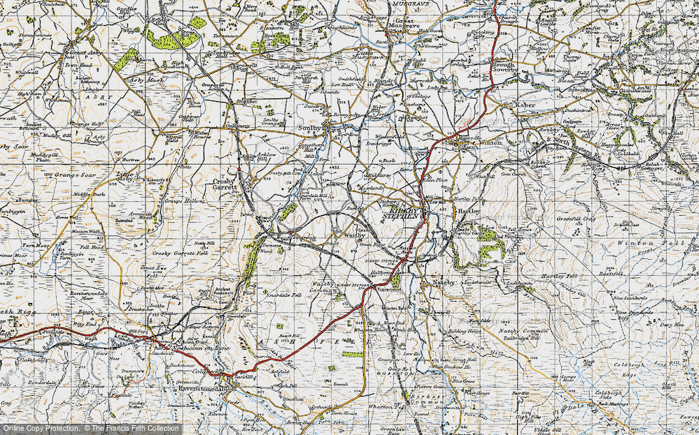 Old Map of Historic Map covering Leases in 1947