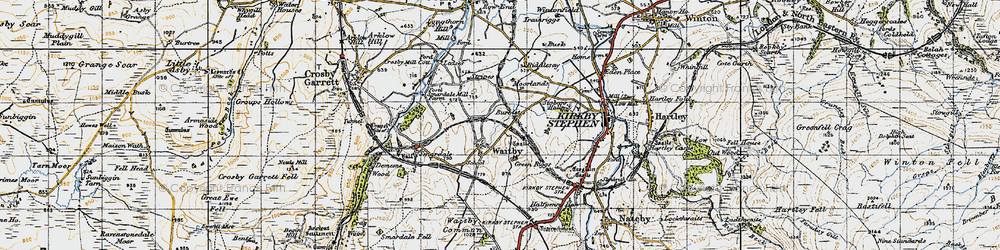 Old map of Leases in 1947