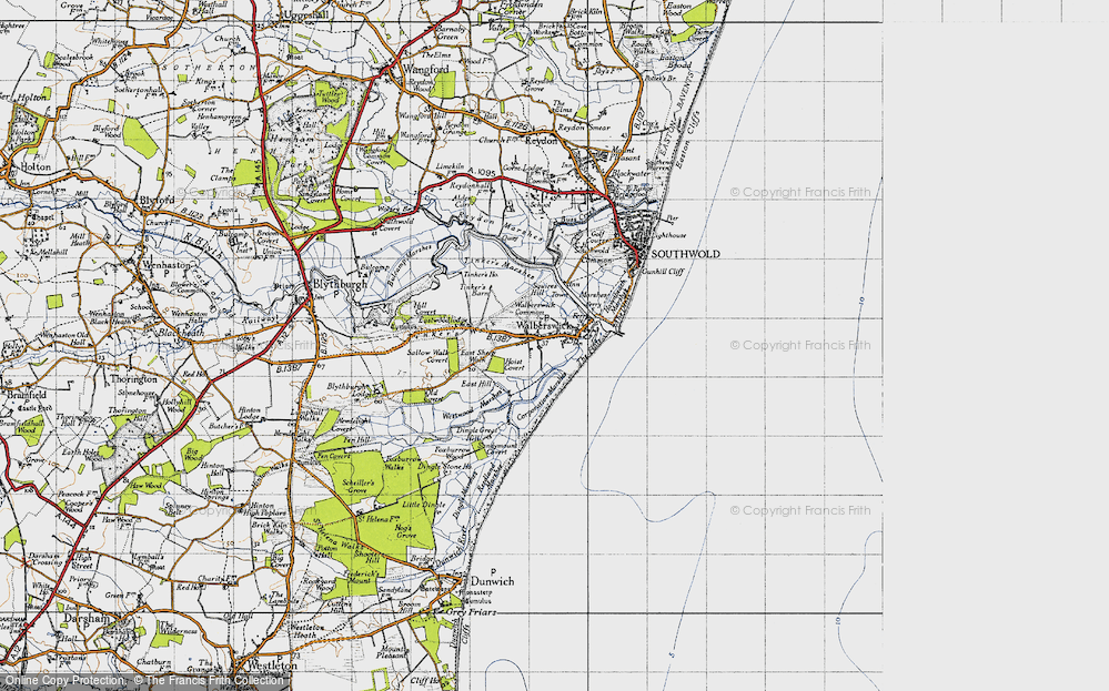 Old Map of Historic Map covering Tinker's Barn in 1946
