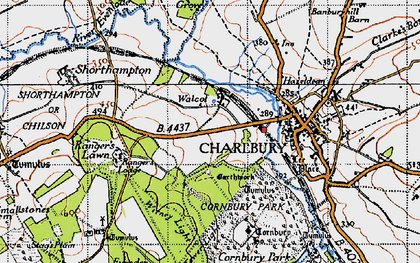 Old map of Wychwood Forest in 1946