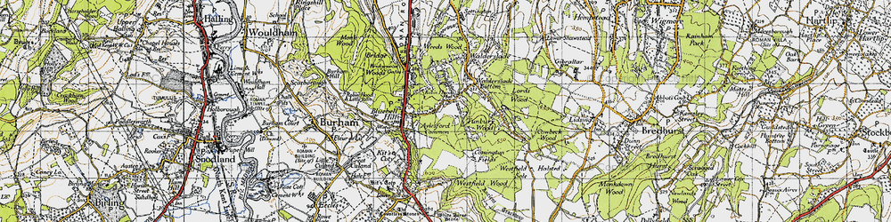 Old map of Walderslade in 1946